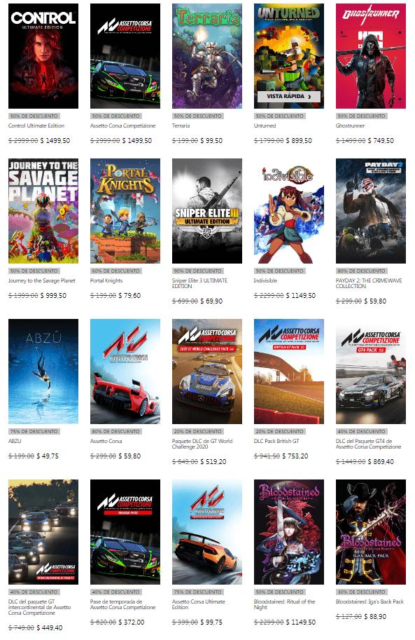 Ofertas del Editor 505 Games